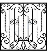 Ажурная решетка №12