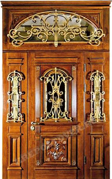 дизайн металлических дверей с ковкой