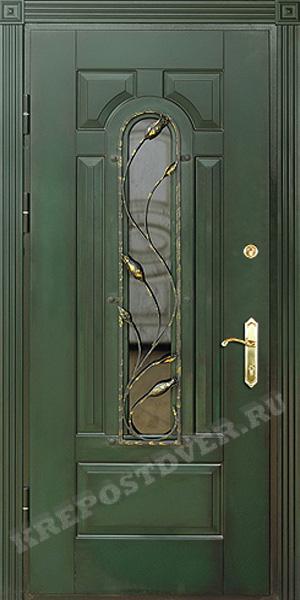 входные двери ковка стекло массив