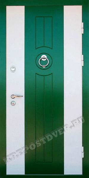 входные двери крашенная мдф белая