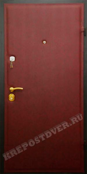 двери металлические эконом из винилискожи
